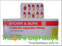 Brown & Burk Cephalexin capsules 500mg